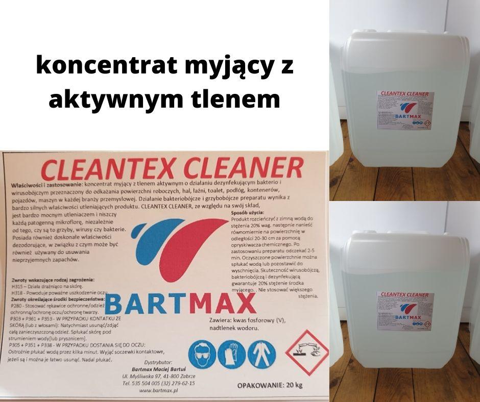 cleantex cleaner - koncentrat myjący z aktywnym tlenem