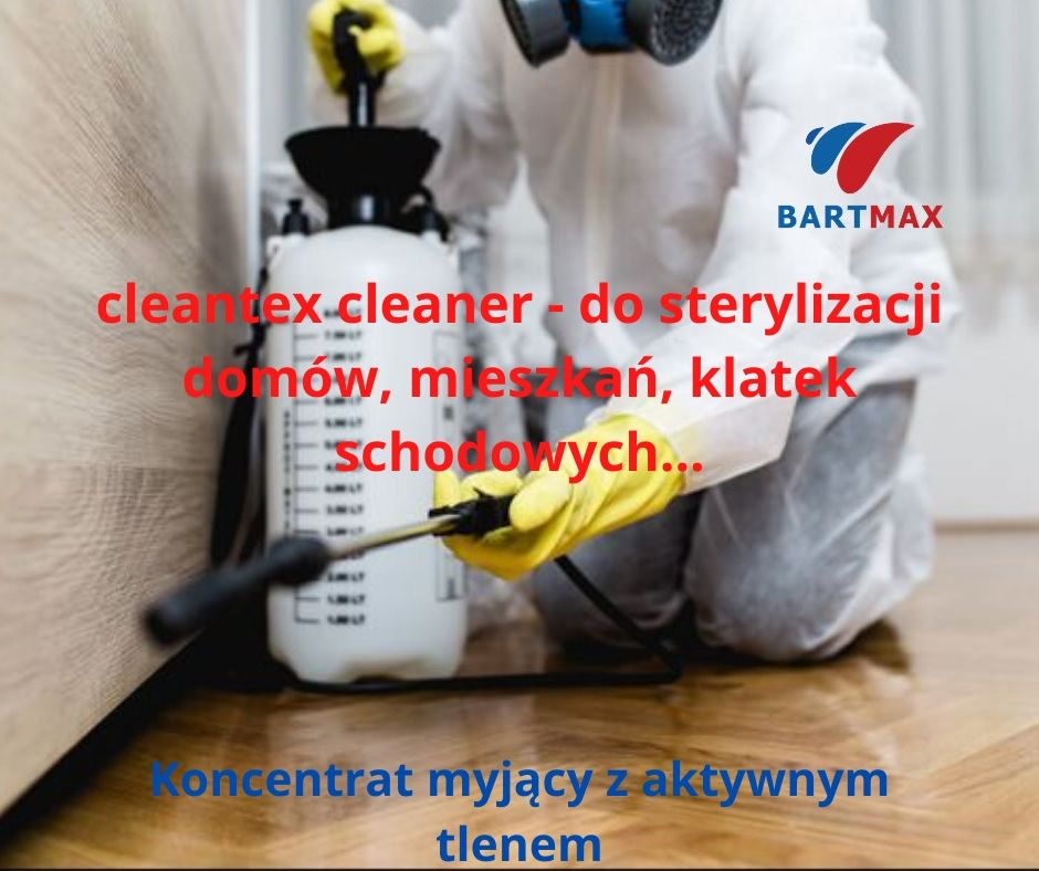 cleantex cleaner - do sterylizacji domów, mieszkań, klatek schodowych...